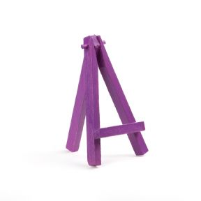 "Violet Colour Mini Easel 5"" - Beech Wood"